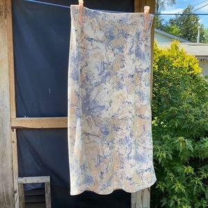 Abstract brush stroke midi skirt